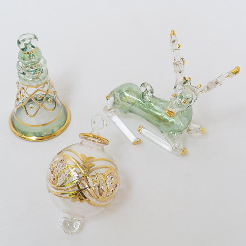 Mixed set A of 3 Christmas baubles