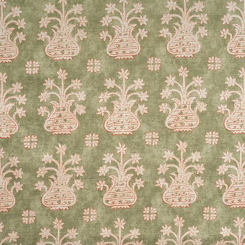 """""""Artemis"""" linen in sage green (price is per metre)"""