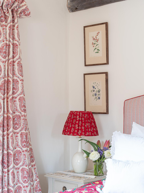 A guest bedroom, English country house