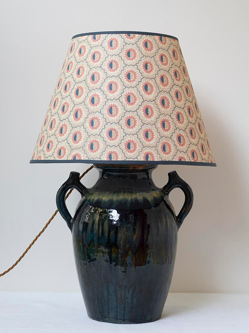 Medium sized, very attractive French hand made ceramic lamp base