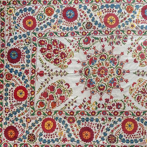 Stunning densely silk hand embroidered Nurata suzani PRICE ON APPLICATION