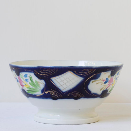 19th century antique Russian Kuznetsov porcelain bowl for Ottoman market