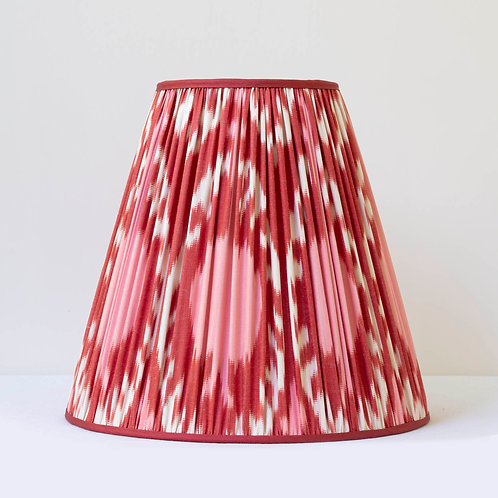 "12 1/2"" / 32 cm base hand woven ikat lampshade"