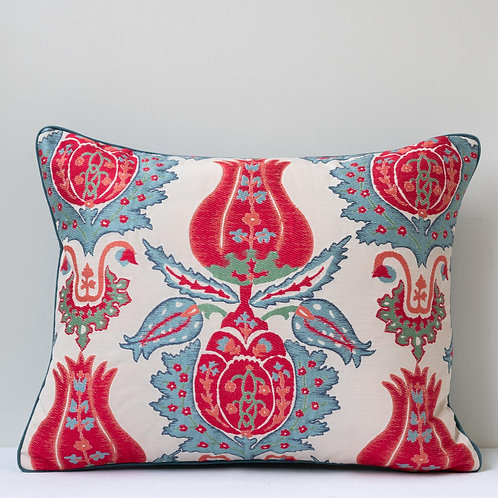 Rectangular Susan Deliss Ottoman motif cushion