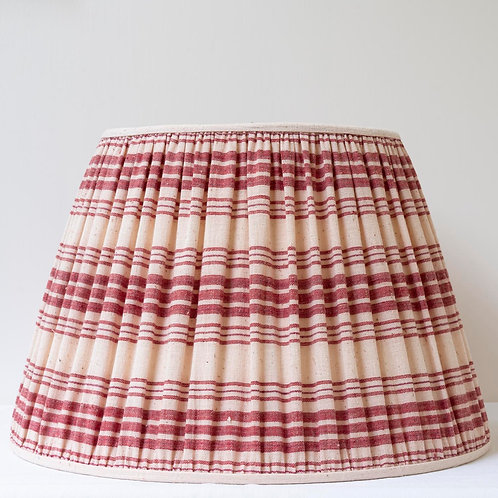 "18""/45cm base red cream antique linen lampshade"