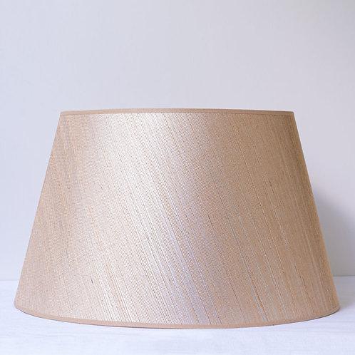 "16""/ 41cm raffia lampshade with slight sheen"
