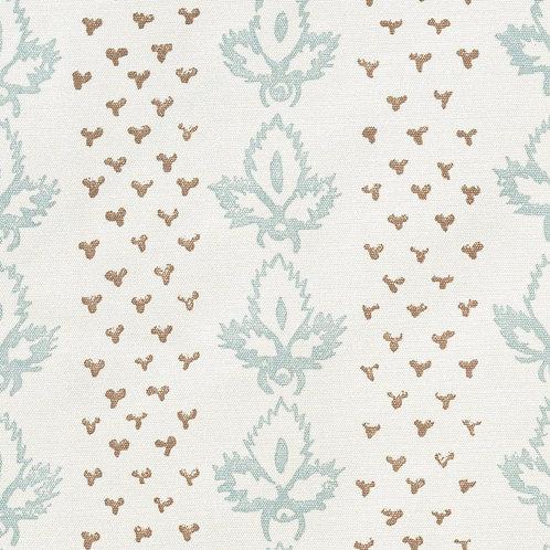 Screen printed Sibyl Colefax & John Fowler 'Bees' silk fabric
