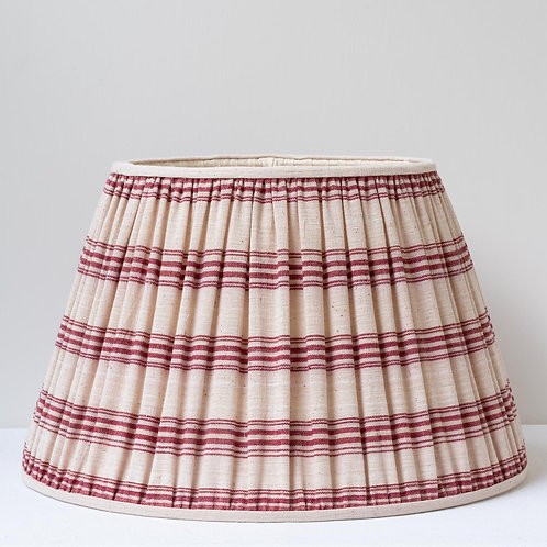 "16""/40cm base antique red cream linen striped lampshade (one of pair"