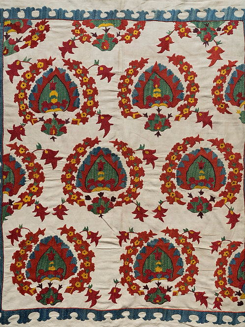 Small silk embroidered suzani 2