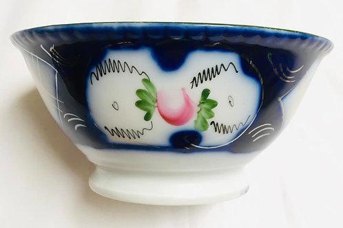 20th century Russian Kuznetsov Dmitrovsky porcelain bowl