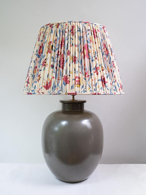 SALE HUGE stone ceramic table lamp (shade not included)