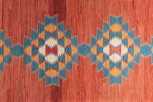 Newly hand woven Anatolian wool runner