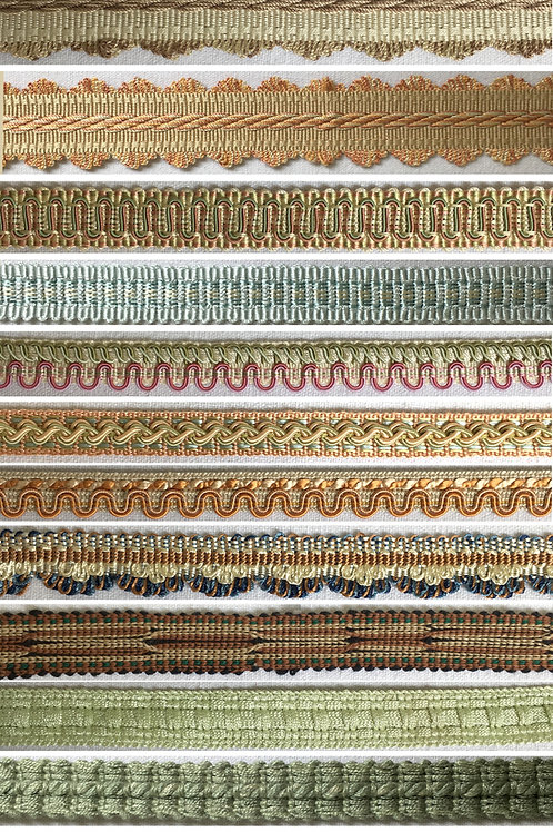 Mixed bag of upholstery braids