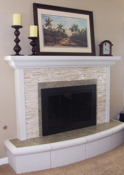 Custom w/ raised bullnose hearth.