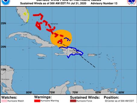 Isiaías deja República Dominicana