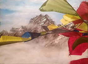Doug Kabel, 'Tibetan Prayer Flags', Oil