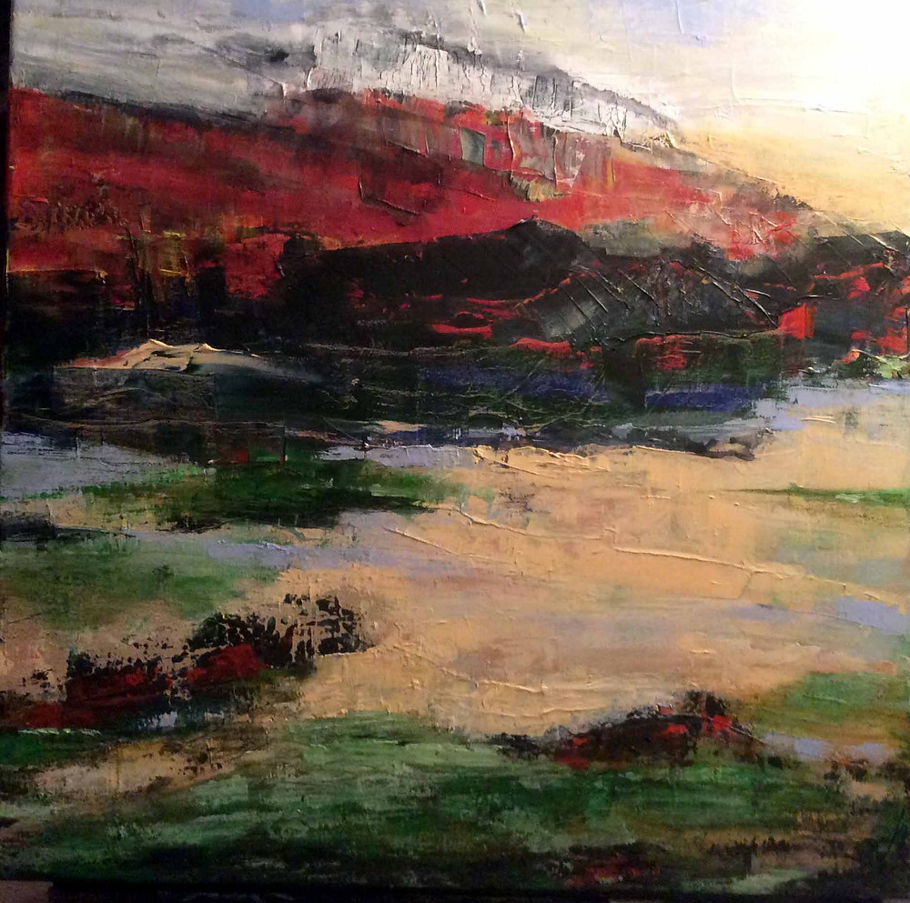 image of 3rd Place Oil/Acrylic - Somewhere out There #2 by Katey Sandy