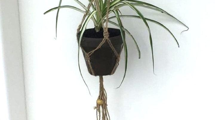 Hand-made Macrame Plant Holder - Twine