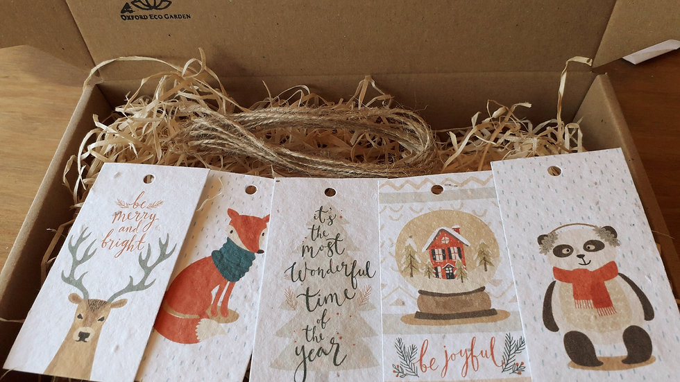 Biodegradable Seed Christmas Tags