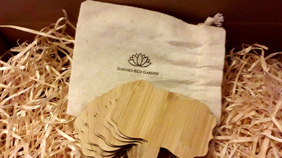Bamboo Seed and Plant Labels - Floral Design
