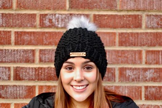 Columbia Faux Fur Pom Hat