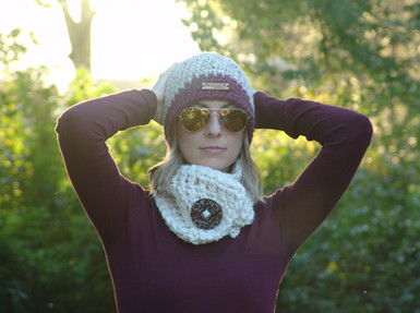 Beanie and Ivy Button Scarf