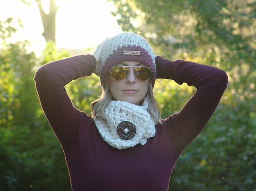 Ivy Short Button Scarf