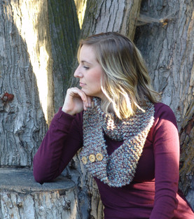 Button Infinity Scarf