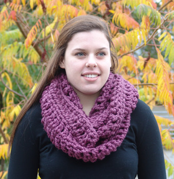 Ivy Infinity Scarf in Fig -$35