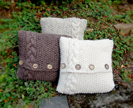 O'Gara Pillow Cover - Seed and Cable Knit