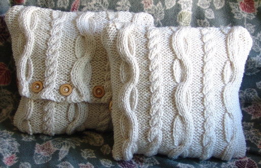 Irish Cable Knit 12x12 Pillow Cover