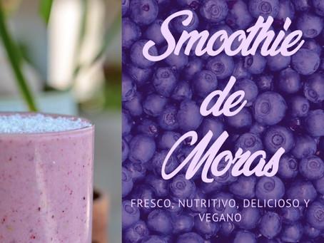 Smoothie antioxidante de moras