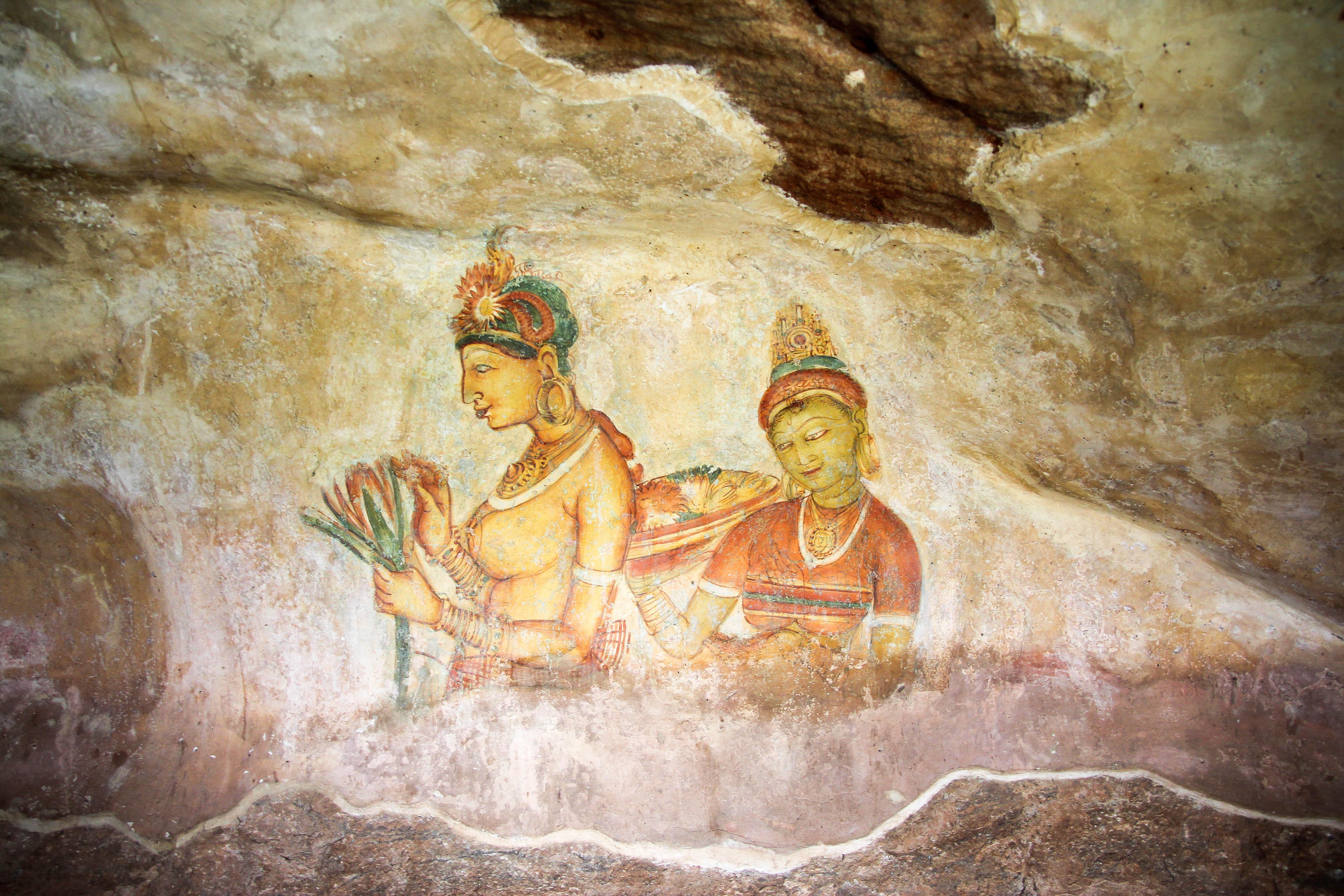 Sigiriya Frescoes, Sigiriya Rock