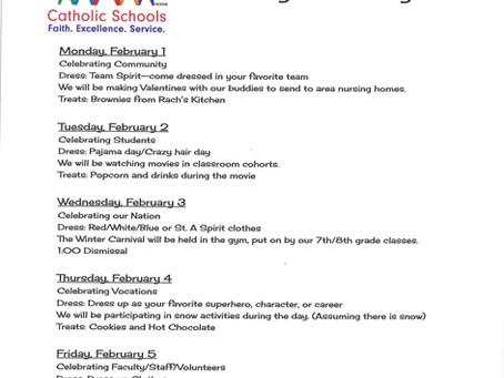 Catholic Schools Week, Feb 1-5, 2021