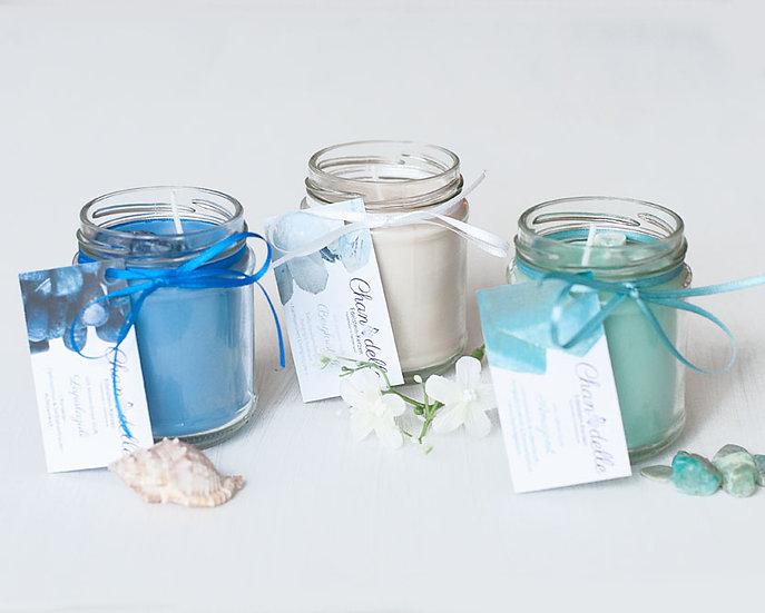 Duftkerzen-Kombi «Blue Stars»
