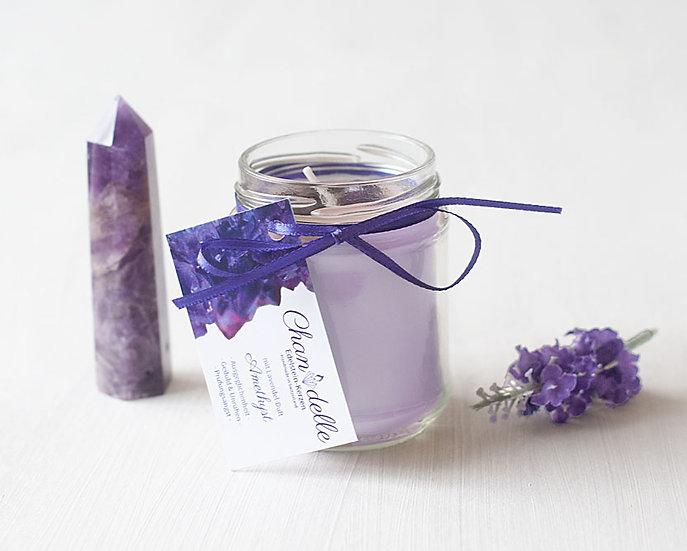 Duftkerze «Amethyst & Lavendel»