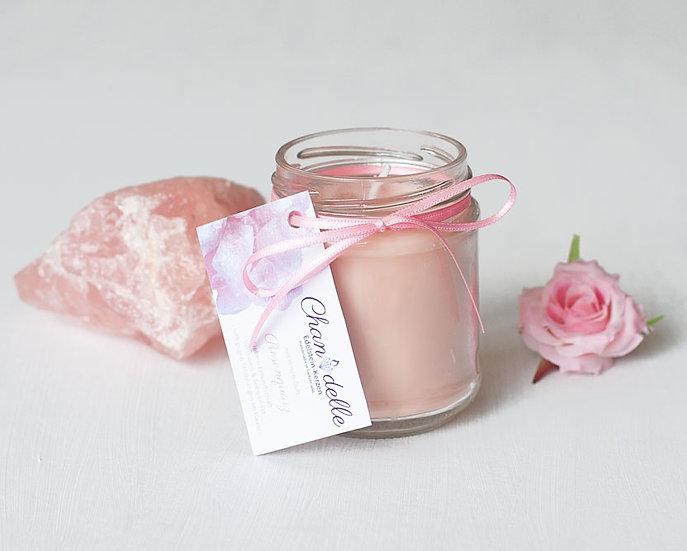 Duftkerze «Rosenquarz & Rose»