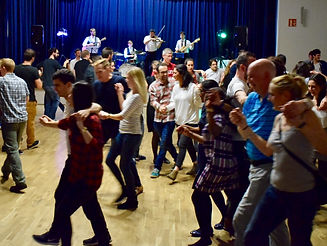 A great crowd at the ceilidh club in Baden Powell House, South Kensington