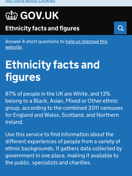 Researching and designing Ethnicity Facts and Figures
