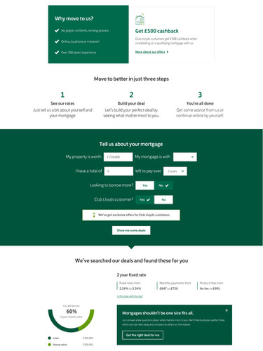 Redesigning the Lloyds mortgage application
