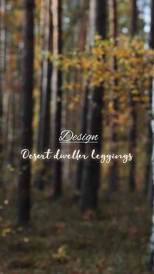 Design: desert dweller leggings