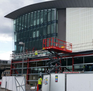 Steel work for West London Audi