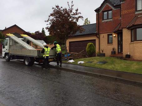 House Scaffolding, Glasgow