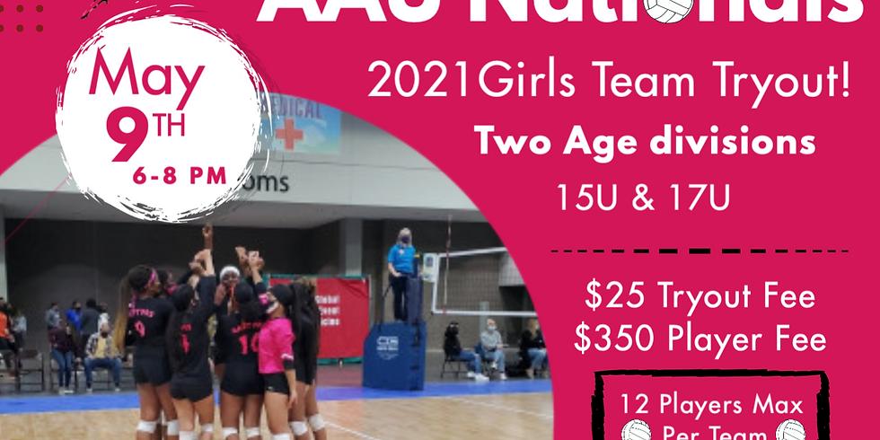 Girls 17U AAU Nationals Tryout