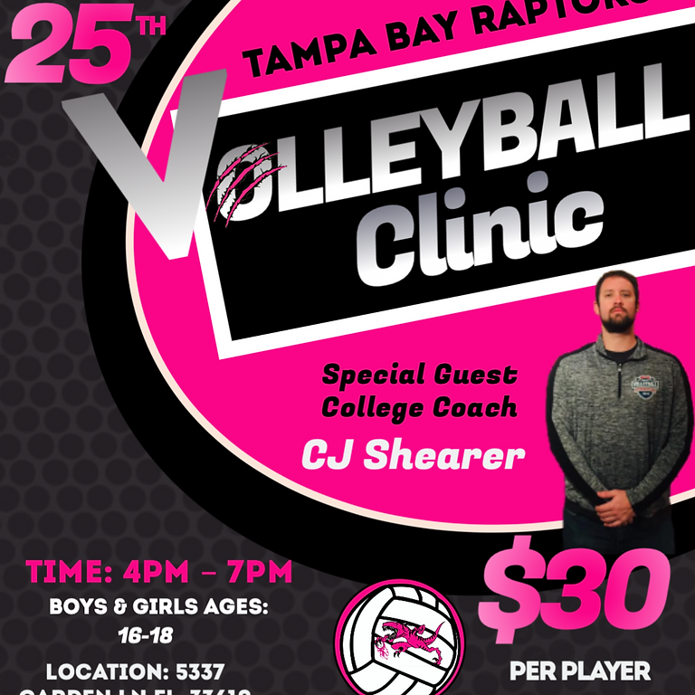 Volleyball Clinic w/ special guest College Coach
