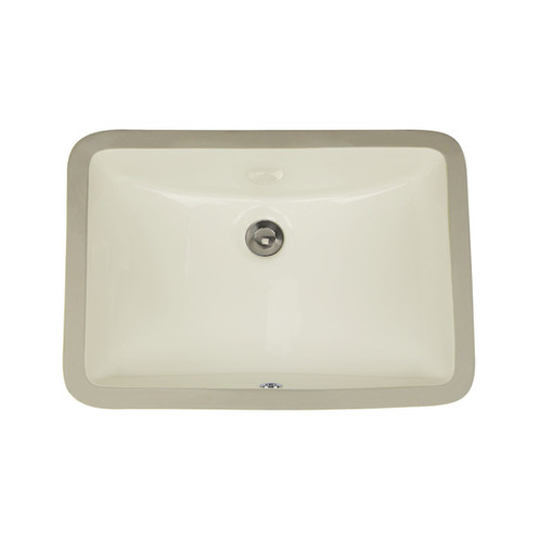 18 X 12 Inch Biscuit Ceramic Undermount Vanity Sink