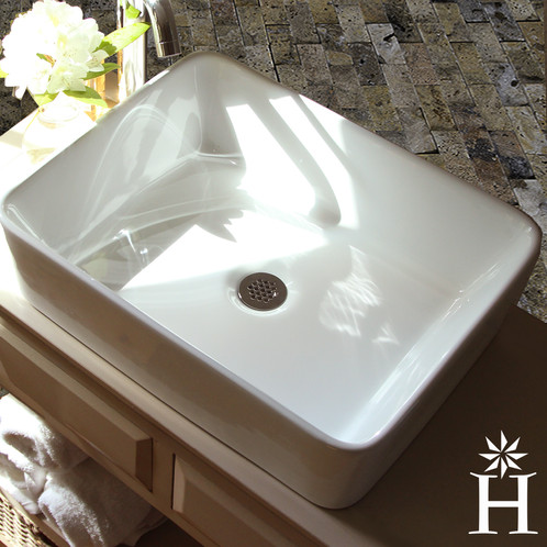 Highpoint Collectionu0027s Sleek White Vessel Brings Easy Elegance To Your Any  Bathroom. This Sink Is Crafted From Vitreous China And Is Sure To Make A  Great ...