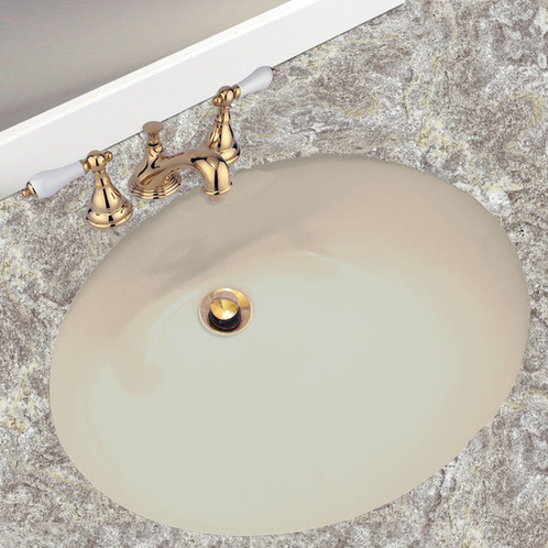 ... Undermount Bathroom Sink Is A Rare Find That Is Perfect For A  Contemporary Bathroom. The 17 Inch X 14 Inch Sink Features A Beautiful Warm  Biscuit Tone .