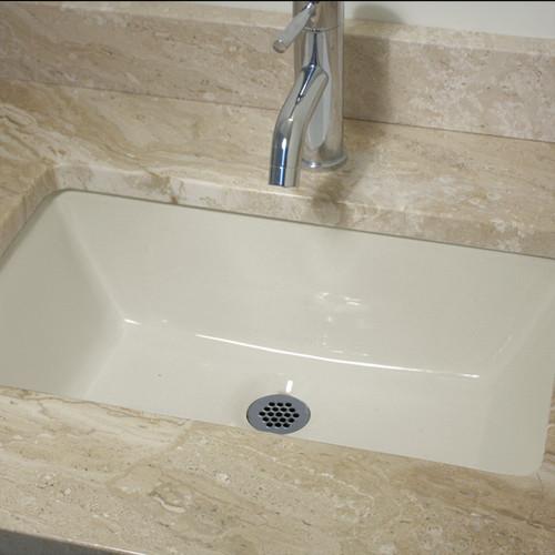19 x 11inch biscuit undermount lavatory vanity sink