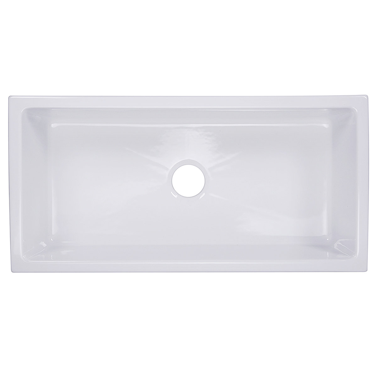 Italian Fireclay 36 Inch Fireclay Farmhouse Sink Highpoint Collection